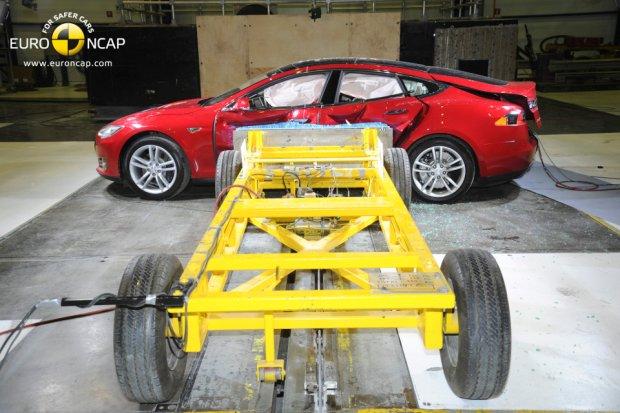 Test zderzeniowy Tesli Model S