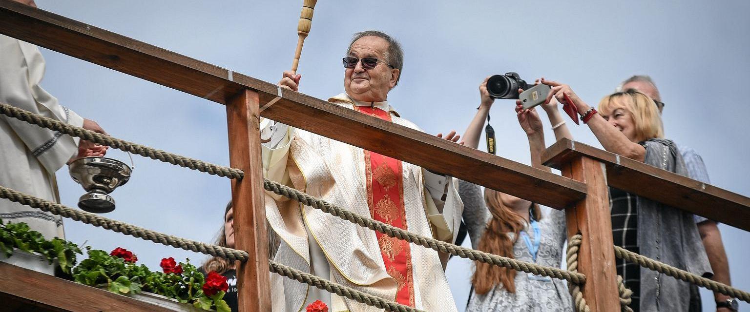 Ojciec Rydzyk na XXVIII Pielgrzymce Rodziny Radia Maryja w 2019 roku (Fot. Łukasz Kolewiński / Agencja Gazeta)