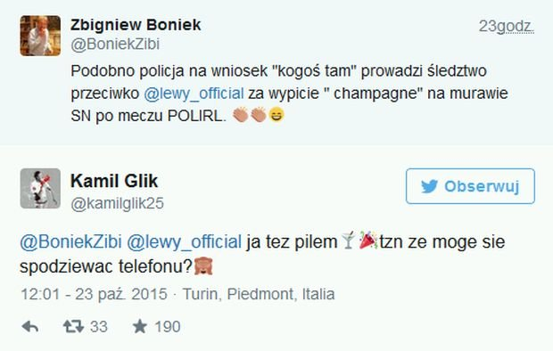 Kamil Glik o aferze z szampanem