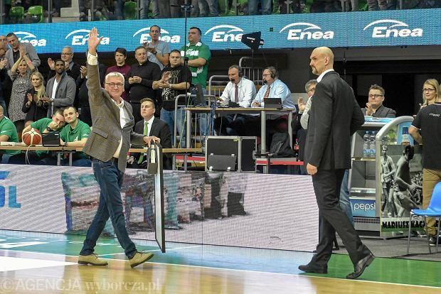 Mariusz Kaczmarek i trener Żan Tabak