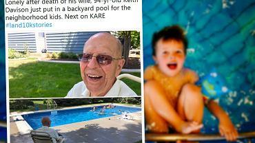94-letni Keith stał się lokalnym bohaterem po tym, jak w swoim ogrodzie wybudował basen dostępny dla wszystkich sąsiadów