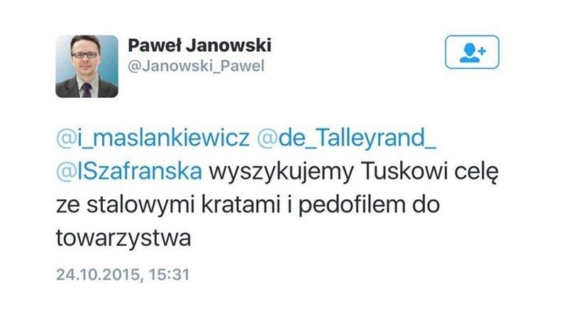 Wpis dr. Pawła Janowskiego na Twitterze