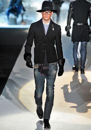 Klasyczna elegancja: czarne buty, moda męska, styl, buty, Buty z kolekcji D'Squared2
