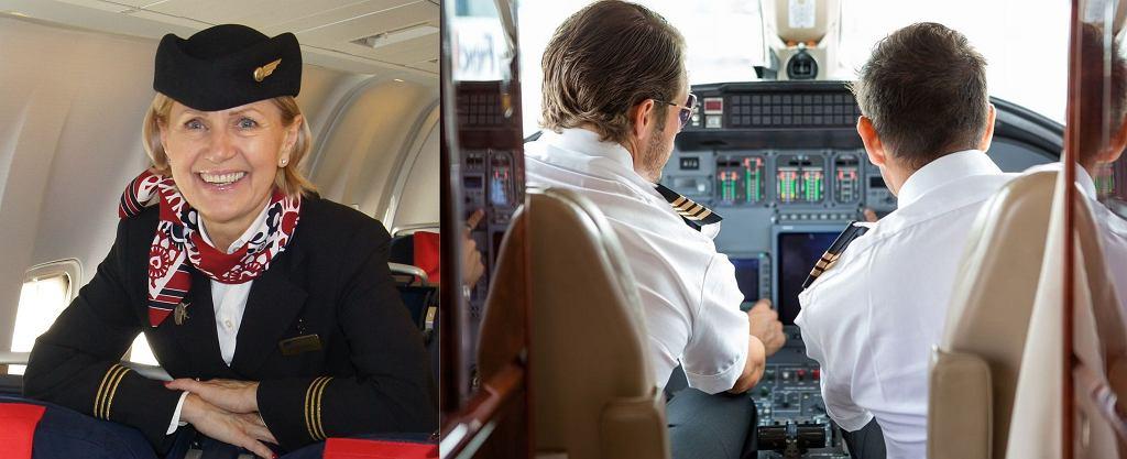 Stewardesy i piloci - to od nich zależy nie tylko nasz komfort, ale i życie. Po lewej Starsza Stewardesa PLL LOT, Anna Więckowska.