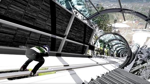 Projekt tunelu nad rozbiegiem