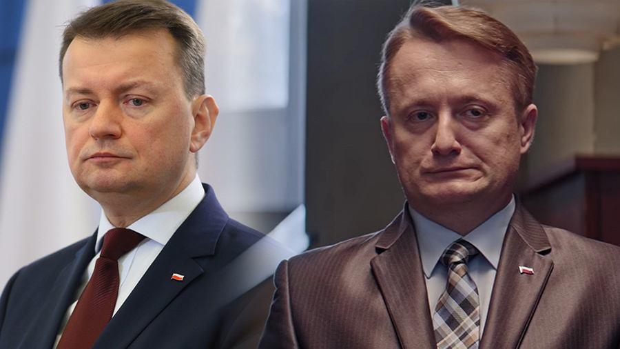 Mariusz Błaszczak i Mikołaj Cieślak