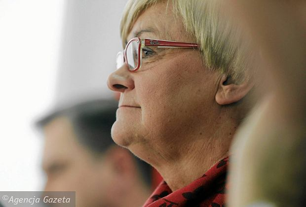 19.01.2017 Warszawa. Henryka Bochniarz podczas posiedzenia plenarnego Rady Dialogu Społecznego