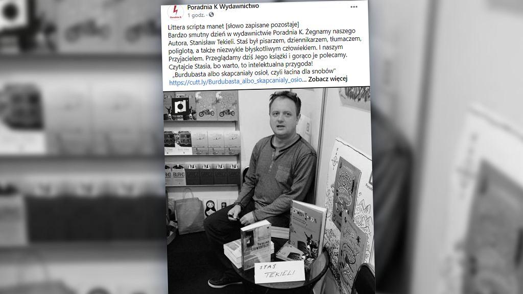 Nie żyje Stanisław Tekieli. Wybitny dziennikarz, pisarz i tłumacz miał 55 lat