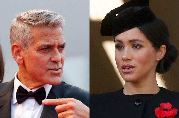 Zdjęcie numer 1 w galerii - George Clooney broni Meghan Markle. Aktor oburzył się podczas publicznego przemówienia.