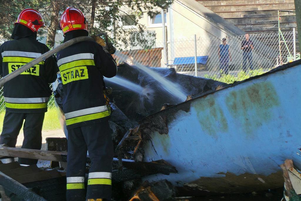 Pożar pod mostem Łazienkowskim