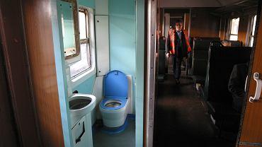 Toaleta w pociągu (zdjęcie ilustracyjne)