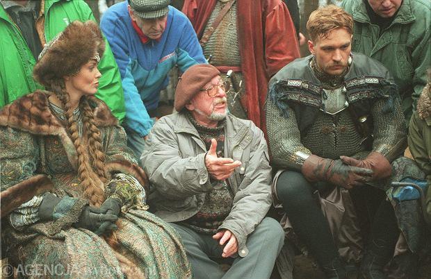 Jerzy Hoffman (w środku) na planie 'Ogniem i mieczem'