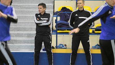 Waldemar Fornalik. ierwszy trening Ruchu Chorzów w 2015 roku