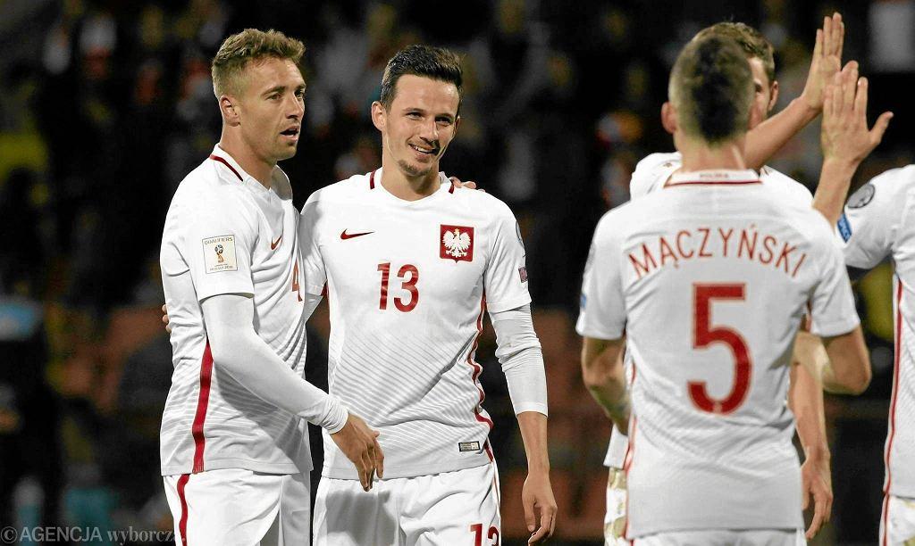 Rafał Wolski tuż po zdobyciu bramki w meczu z Armenią