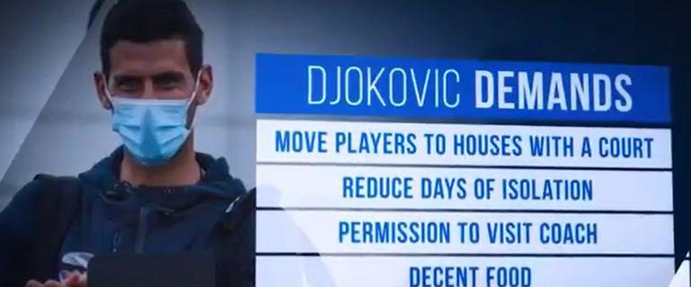 """Novak Djoković wystosował żądania, Australijczycy go wyśmiali. """"To pajac"""""""