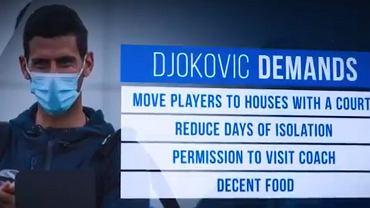 Żądania Novaka Djokovicia