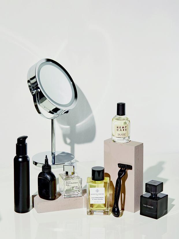 Na górze z prawej strony Hemp Care, na dole od lewej: Maison Francis Kurkdjian, Essential Parfums i Eisenberg