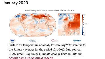 Rekordowo ciepły styczeń