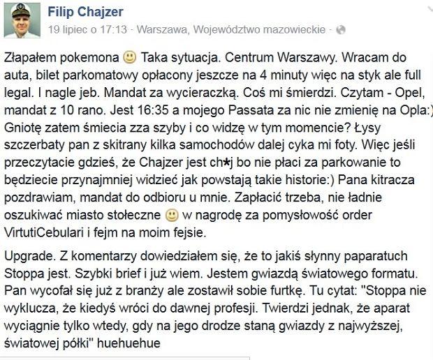 Post Filipa Chajzera