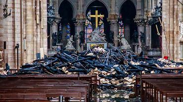 Pożar Notre Dame. Katedra po ugaszeniu