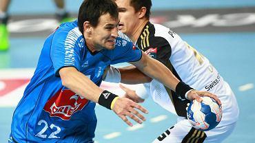 Z piłką Marcin Lijewski