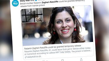 Iran: Zaghari-Ratcliffe 'jest w dobrym stanie'. Skazana za szpiegostwo zakaziła się koronawirusem? (zdjęcie ilustracyjne)
