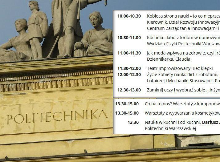 Warsztaty na Dzień Otwarty dla kobiet na Politechnice Warszawskiej