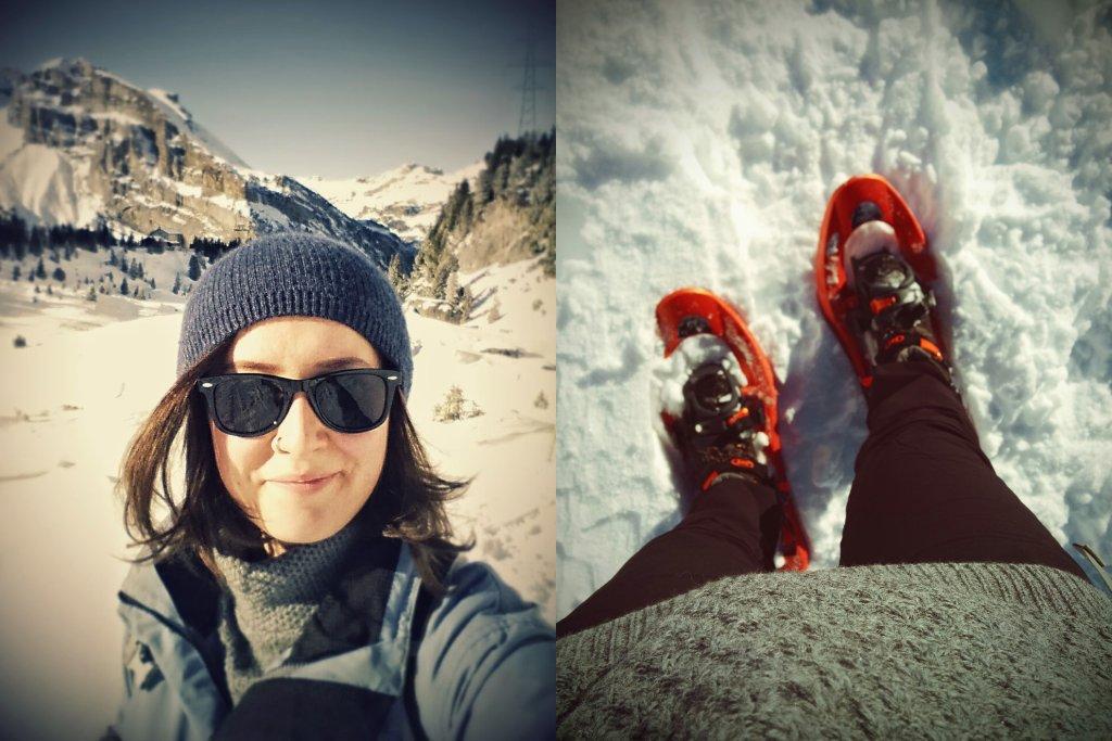 Rakiety śnieżne, śnieg i uśmiech od ucha do ucha, czyli 'efekt zimy w Szwajcarii'