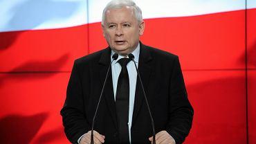 .Konferencja prezesa PiS Jaroslawa Kaczynskiego
