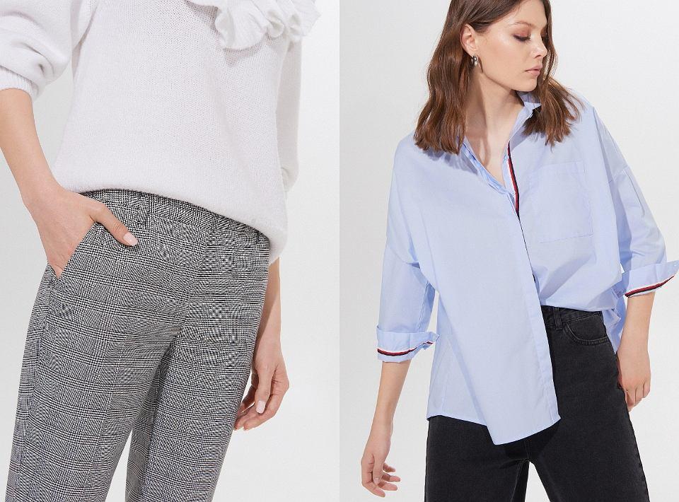 Koszula i cygaretki to idealny zestaw do pracy