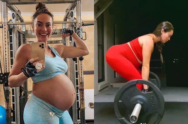 W zaawansowanej ciąży podnosi ciężary. Fani: To niebezpieczne. Czy na pewno? Pytamy ekspertkę