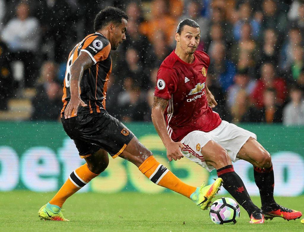 Zlatan Ibrahimović podczas meczu Manchester United - Hull City