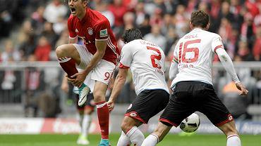 Robert Lewandowski przeciwko zawodnikom z Moguncji
