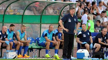 Olimpia Grudziądz - Lech Poznań 0:2 w 1/16 finału Pucharu Polski. Trener Maciej Skorża