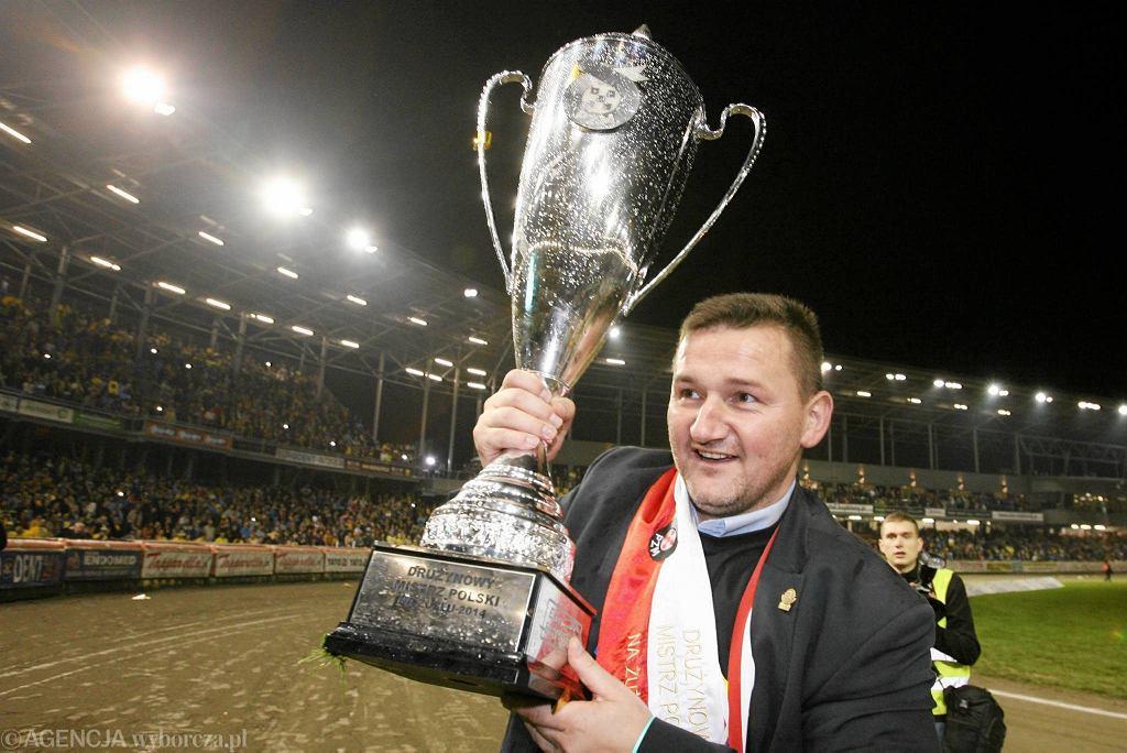 31 lat oczekiwania wystarczy. Stal Gorzów zdobywa ósmy tytuł drużynowego mistrza Polski! Prezes Stali Ireneusz Maciej Zmora
