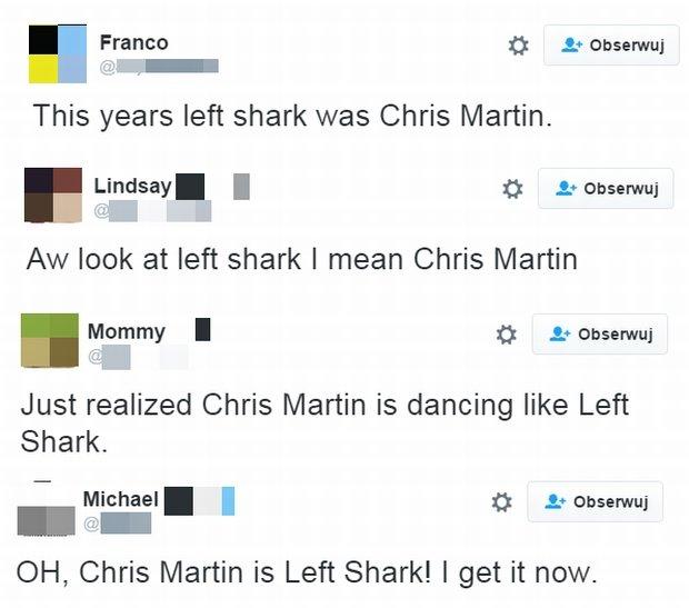 Tweety internautów i Chrisie Martinie