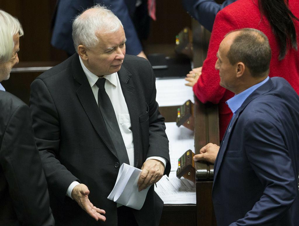 Jarosław Kaczyński Paweł Kukiz w Sejmie