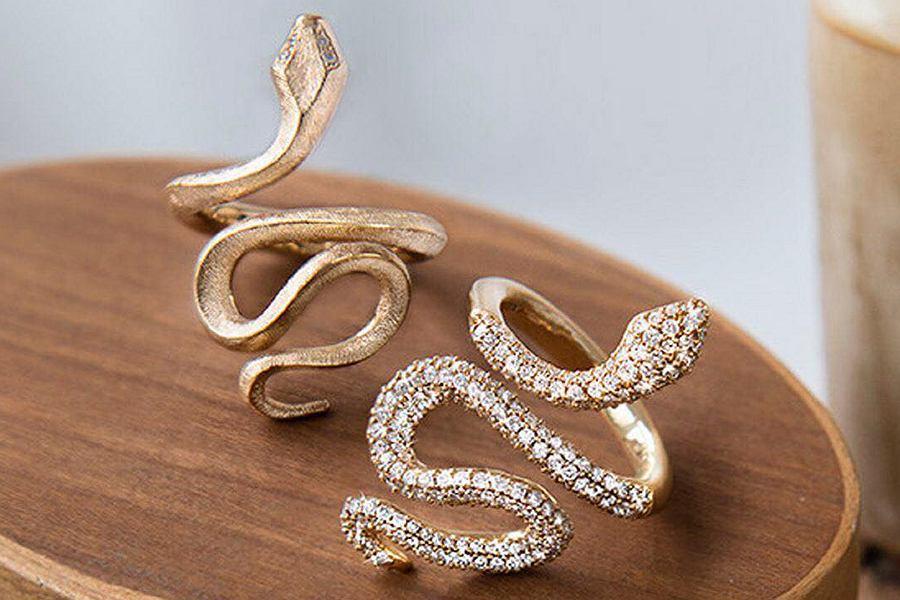 Pierścionki z kolekcji 'snakes'