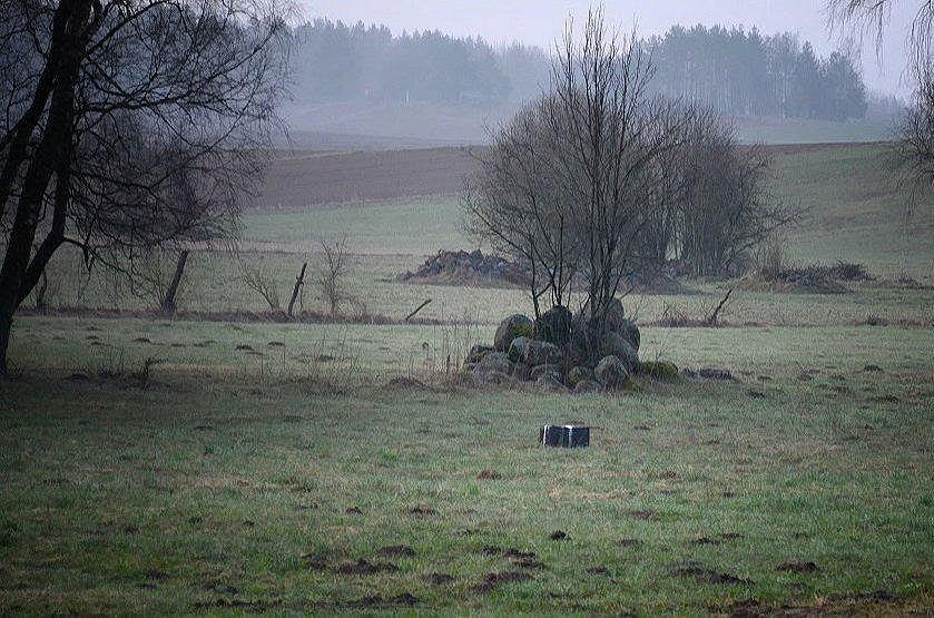Patrol Podlaskiej Straży Granicznej zauważył drona z pakunkiem, lecącego z Białorusi do Polski. Pakunek zrzucono na łąkę przy zabudowaniach po stronie polskiej
