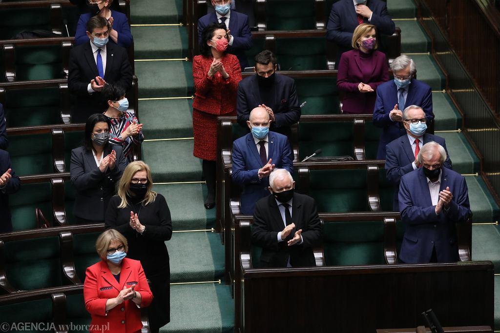 21 . posiedzenie Sejmu X kadencji - politycy PiS
