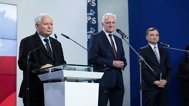 Jarosław Kaczyński, Jarosław Gowin i Zbigniew Ziobro