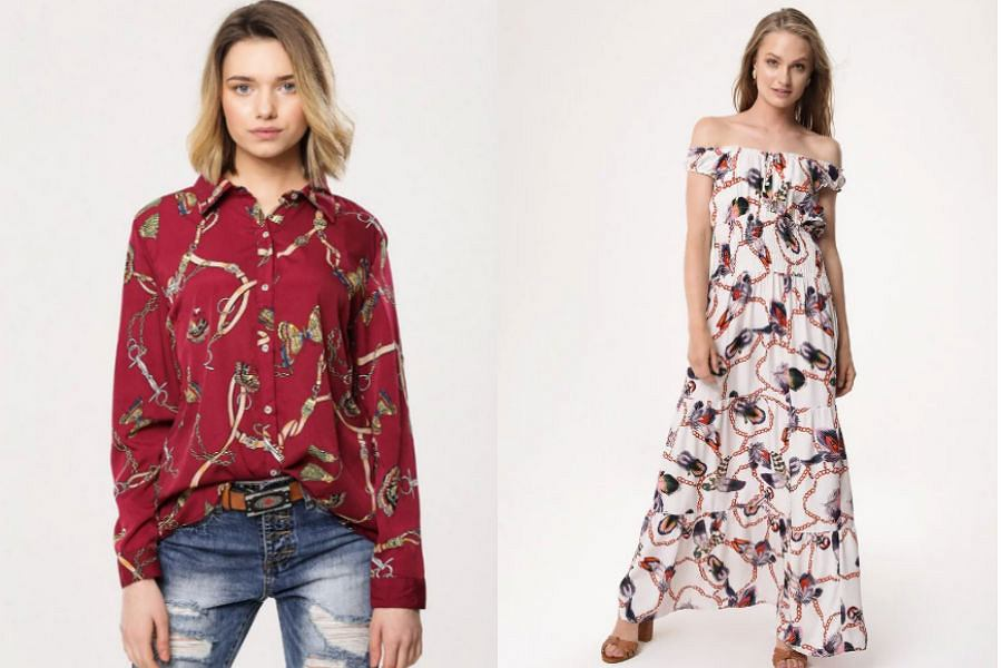 Wzór łańcuszka na ubraniach