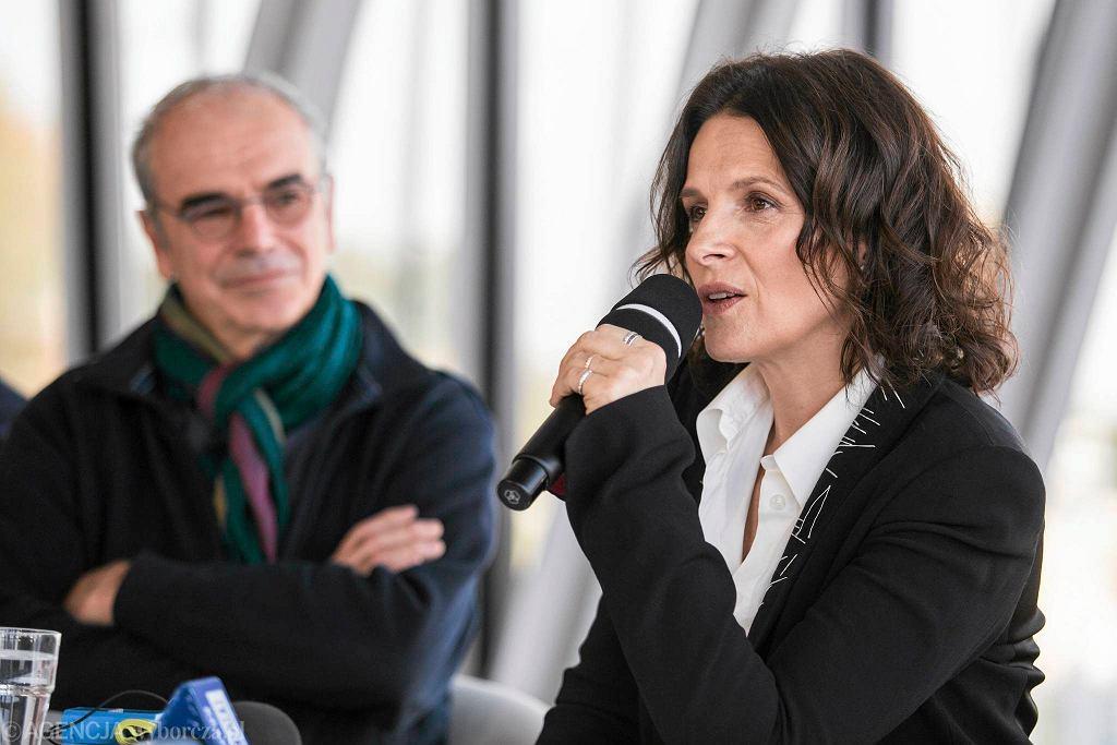 Juliette Binoche w Krakowie w 2016 r.
