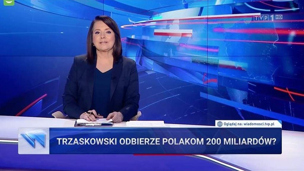 Materiał w 'Wiadomościach' dot. Rafała Trzaskowskiego