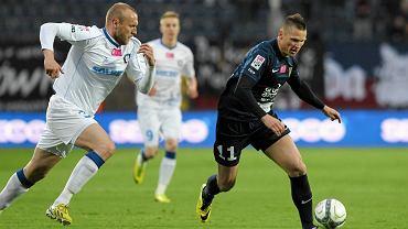 Marcin Robak debiutował w Pogoni rok temu w meczu z Zawiszą. Strzelił gola