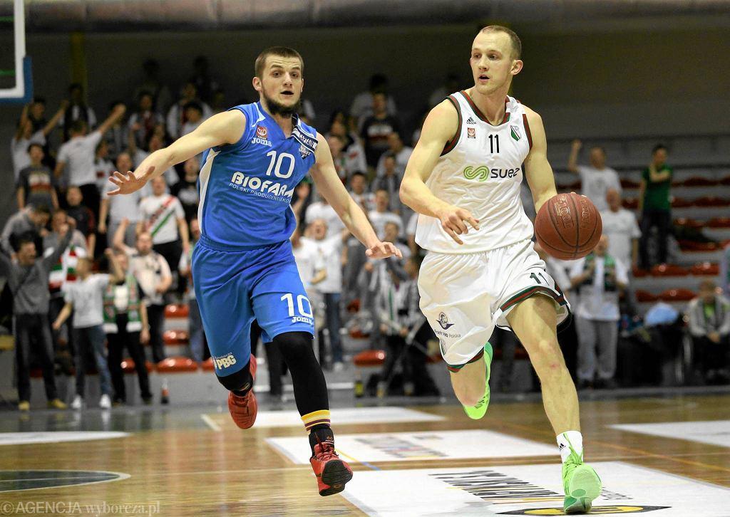 Legia Warszawa - Biofarm Basket Poznań 71:74. Piotr Wieloch