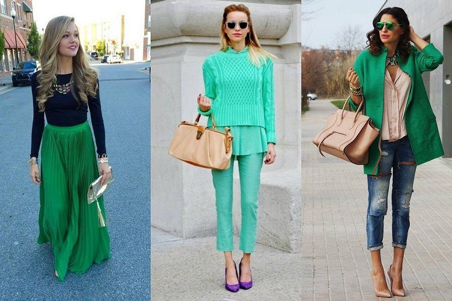 Zielone ubrania idealne do wiosennych stylizacji