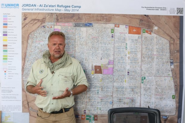 Mapa obozu uchodźców Zaatari