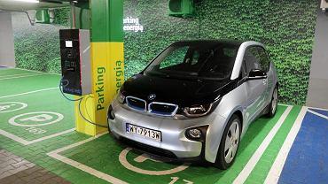 Punkt ładowania samochodu elektrycznego