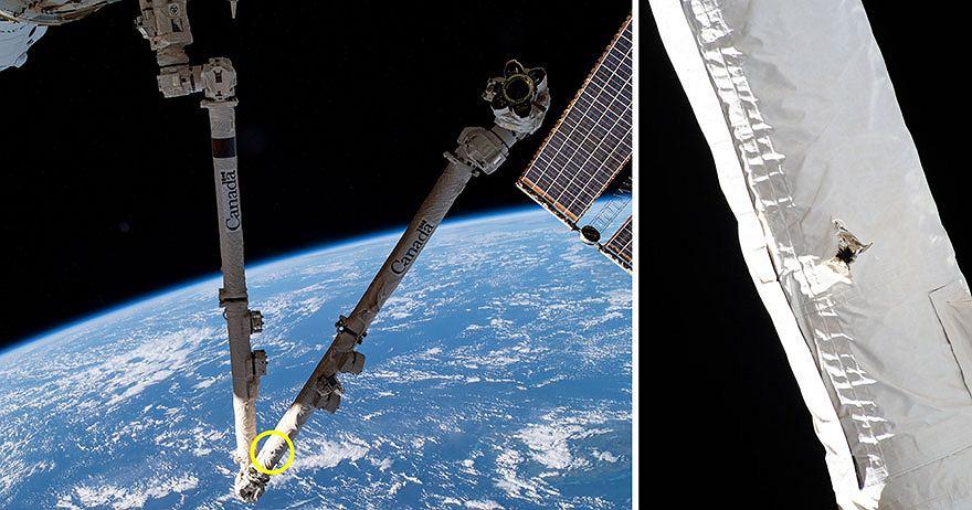 Międzynarodowa Stacja Kosmiczna zderzyła się z kosmicznym śmieciem na orbicie